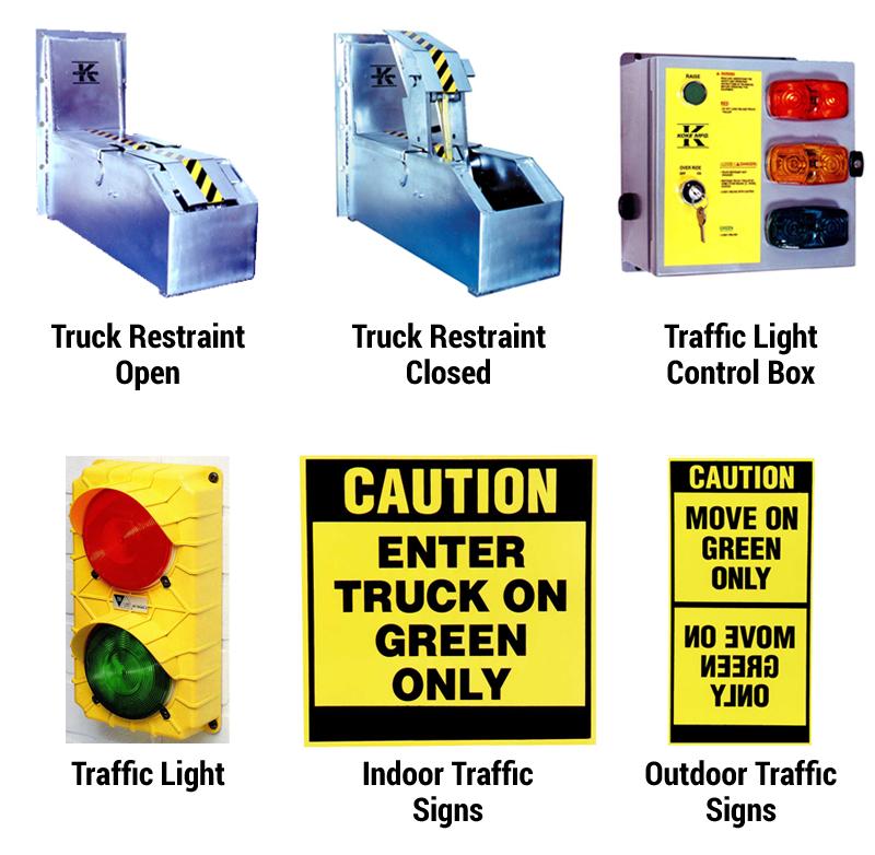 Hydraulic Truck Restraints / Traffic Lighting