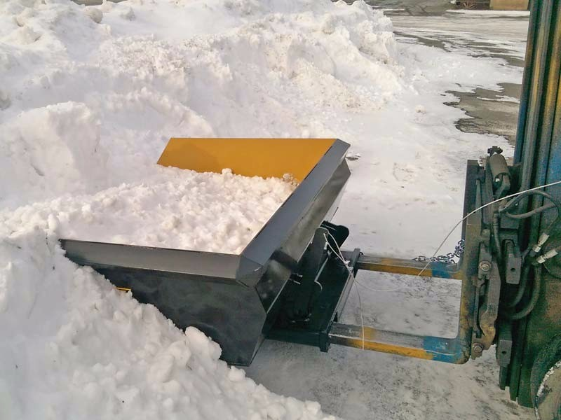 Used Forklift Snow Blades : Snow bucket a quick attach plow for forklifts