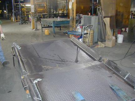 2 Piece Steel Dock Board Option
